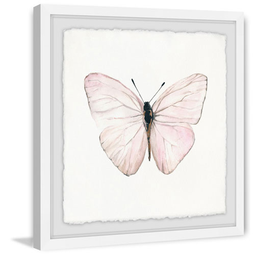 Marmont Hill Translucent Pink Wings 24 x 24 In. Framed Painting Print