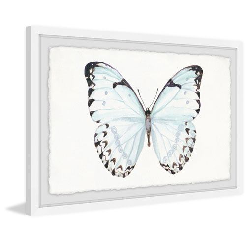 Marmont Hill Translucent Blue Wings 8 x 12 In. Framed Painting Print