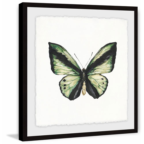 Marmont Hill Deep Green Wings 40 x 40 In. Framed Painting Print