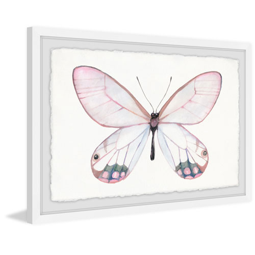 Marmont Hill Pale Pink Butterfly 20 x 30 In. Framed Painting Print