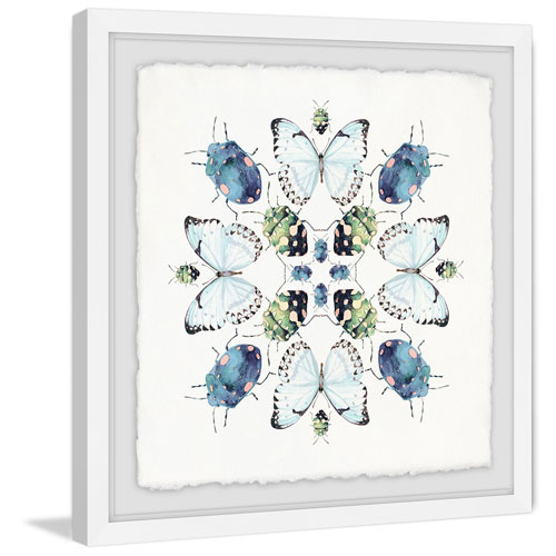 Marmont Hill Beetles and Butterflies 32 x 32 In. Framed Painting Print