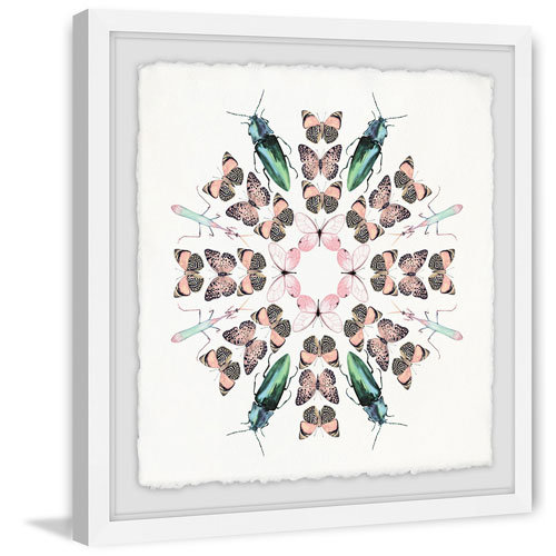 Marmont Hill Butterflies and Beetles 24 x 24 In. Framed Painting Print