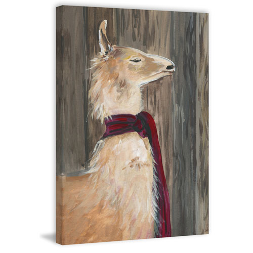 Marmont Hill Llama on Duty 18 x 12 In. Painting Print on Wrapped Canvas