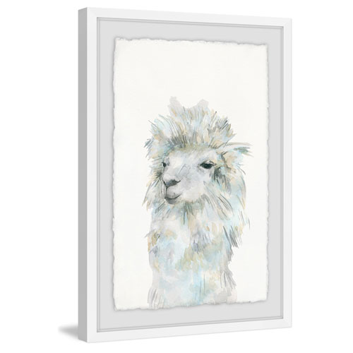 Marmont Hill Fluffy White 18 x 12 In. Framed Painting Print