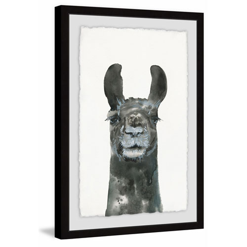 Marmont Hill Older Llama 30 x 20 In. Framed Painting Print