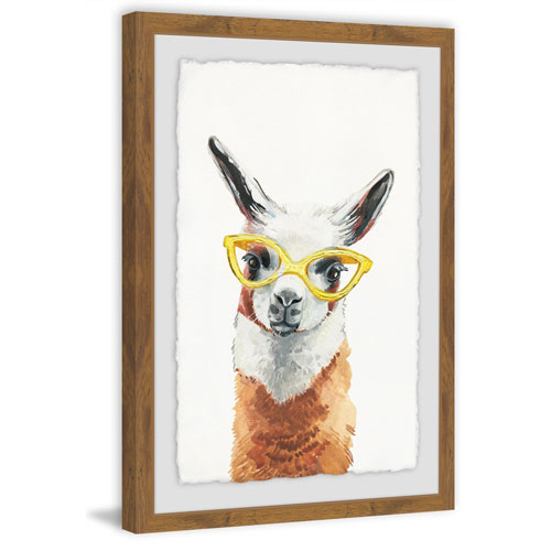 Marmont Hill Yellow Sunglasses 36 x 24 In. Framed Painting Print