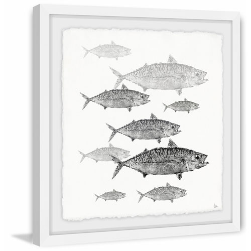 Marmont Hill Freshwater Fish 24 x 24 In. Framed Painting Print
