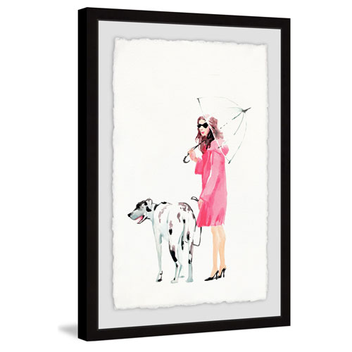 Marmont Hill Dog Walking 36 x 24 In. Framed Painting Print