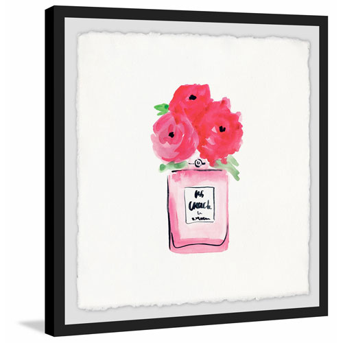 Marmont Hill Blooming Pink 18 x 18 In. Framed Painting Print