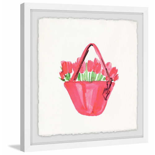 Marmont Hill Pink Rose Bag 48 x 48 In. Framed Painting Print