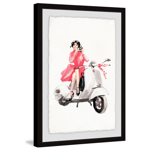 Marmont Hill Photo Scooter 18 x 12 In. Framed Painting Print