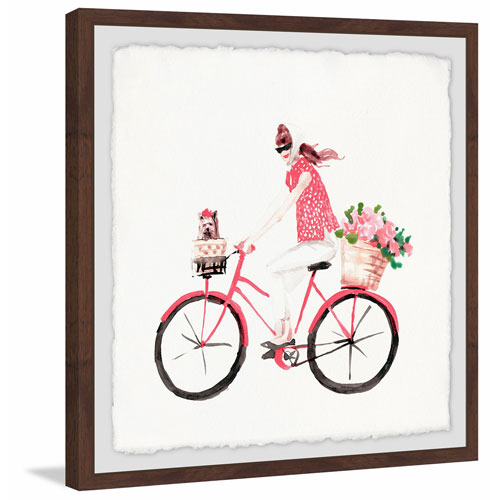 Marmont Hill Bike Ride 18 x 18 In. Framed Painting Print