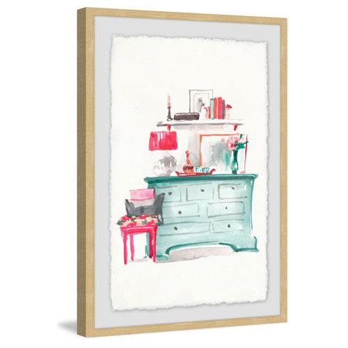 Marmont Hill Aqua Dresser 36 x 24 In. Framed Painting Print