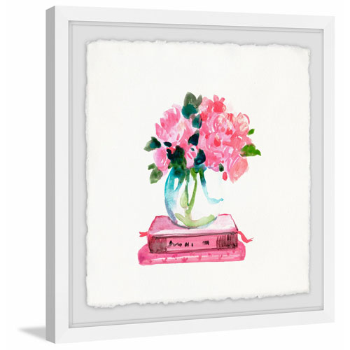 Marmont Hill Pink Books 24 x 24 In. Framed Painting Print