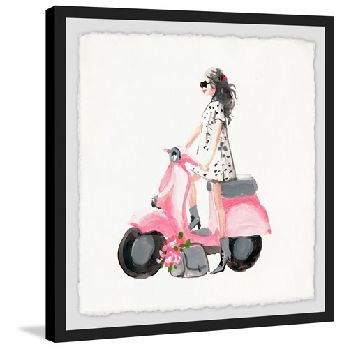 Marmont Hill Pink Scooter 48 x 48 In. Framed Painting Print