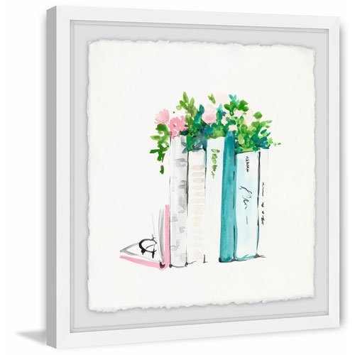 Marmont Hill Planter Books 12 x 12 In. Framed Painting Print