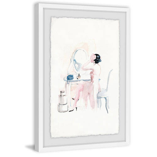 Marmont Hill White Vanity 30 x 20 In. Framed Painting Print