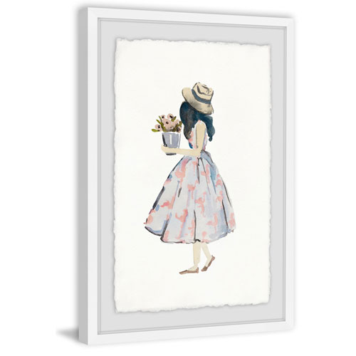 Marmont Hill Pink Poodle Dress 60 x 40 In. Framed Painting Print