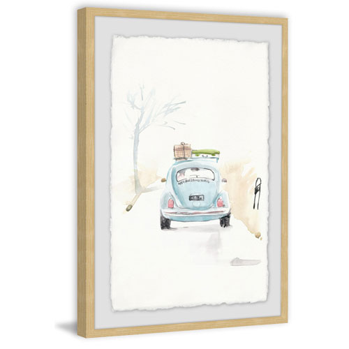 Marmont Hill Blue Bug Trip 24 x 16 In. Framed Painting Print