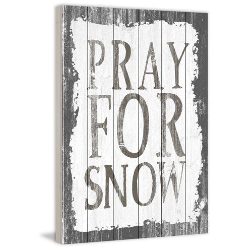 Marmont Hill Pray for Snow 45 x 30 In. Painting Print on White Wood
