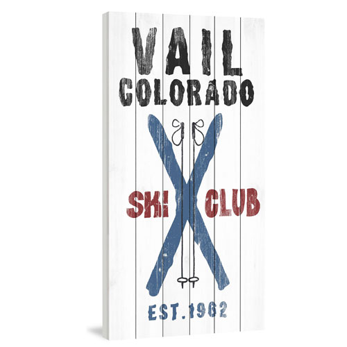 Marmont Hill Vail Ski Club 60 x 30 In. Painting Print on White Wood