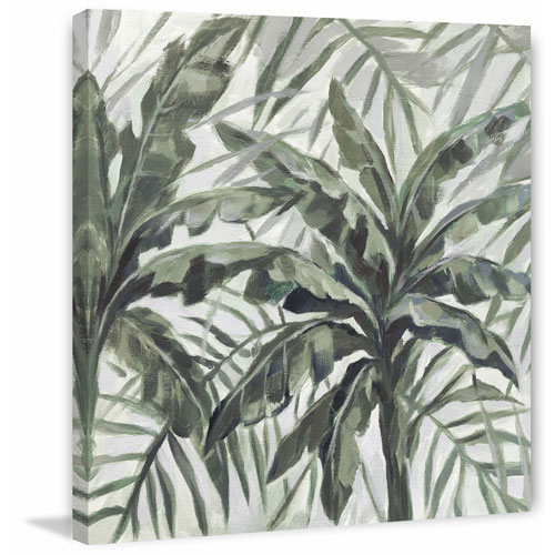 Marmont Hill Green Leaf I 48 x 48 In. Painting Print on Wrapped Canvas