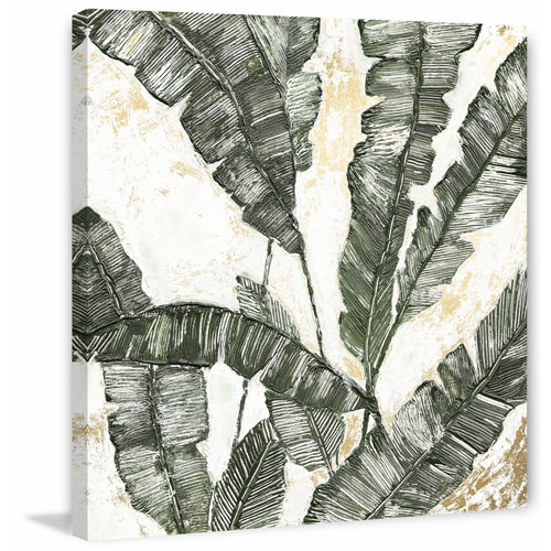 Marmont Hill Green Leaf II 24 x 24 In. Painting Print on Wrapped Canvas