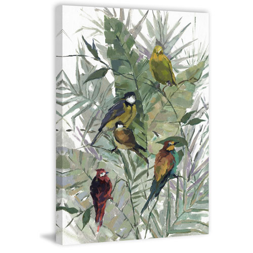 Marmont Hill Morning Birds I 36 x 24 In. Painting Print on Wrapped Canvas
