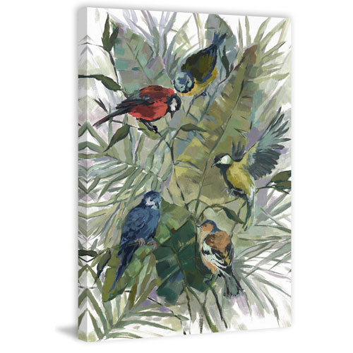 Marmont Hill Morning Birds II 36 x 24 In. Painting Print on Wrapped Canvas