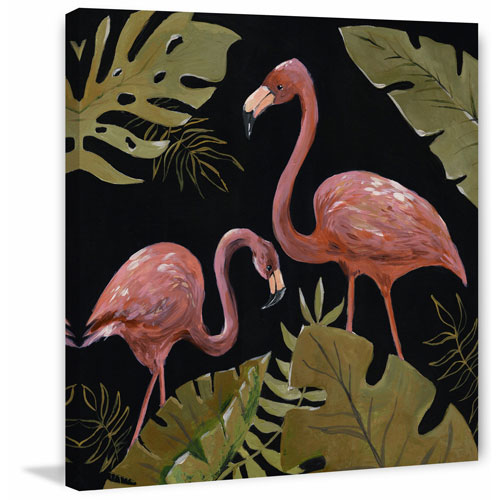 Marmont Hill Flamingos Sweetheart I 12 x 12 In. Painting Print on Wrapped Canvas