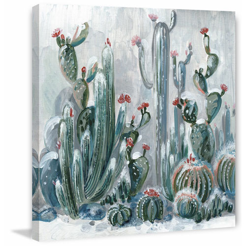 Marmont Hill Cactus Garden II 24 x 24 In. Painting Print on Wrapped Canvas
