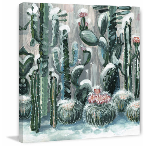 Marmont Hill Cactus Garden III 48 x 48 In. Painting Print on Wrapped Canvas