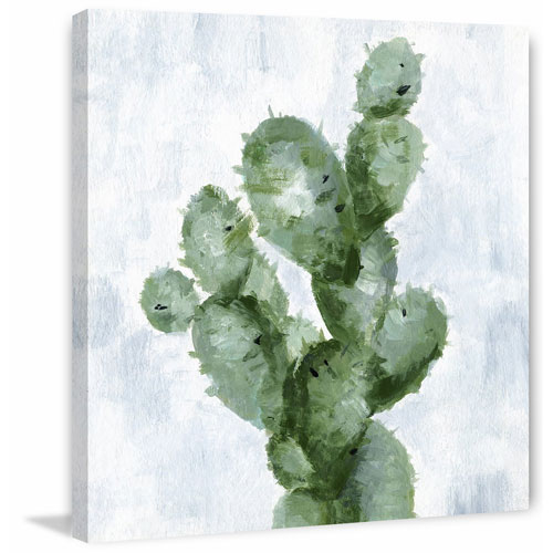 Marmont Hill Abstract Cactus 48 x 48 In. Painting Print on Wrapped Canvas