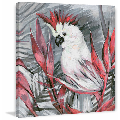 White Cockatoo I 12 x 12 In. Painting Print on Wrapped Canvas