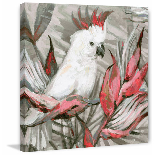White Cockatoo III 40 x 40 In. Painting Print on Wrapped Canvas