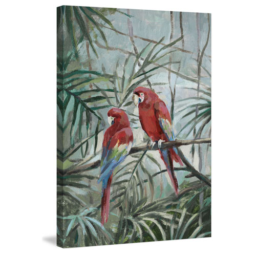 Marmont Hill Cockatoo Heart 30 x 20 In. Painting Print on Wrapped Canvas