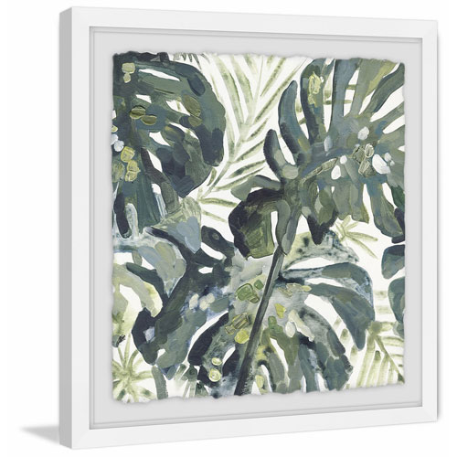 Marmont Hill Watercolor Leaf 40 x 40 In. Framed Painting Print