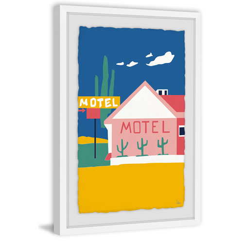 Marmont Hill Motel I 36 x 24 In. Framed Painting Print