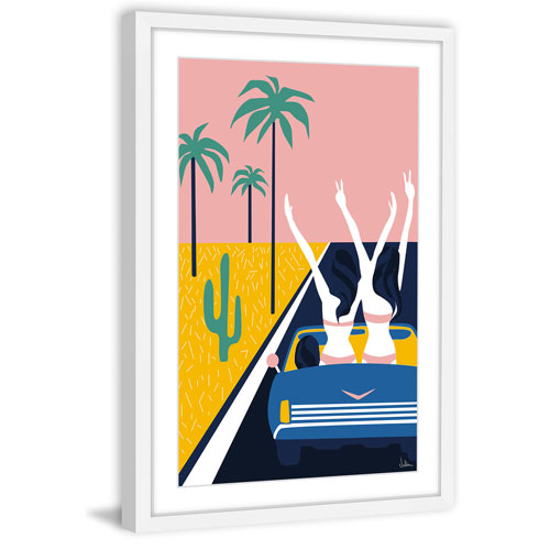 Marmont Hill Party Car 36 x 24 In. Framed Painting Print
