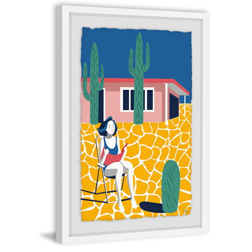 Marmont Hill Relaxing Break 36 x 24 In. Framed Painting Print