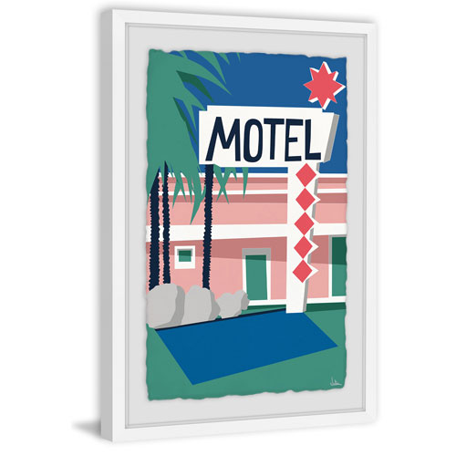 Marmont Hill Motel II 24 x 16 In. Framed Painting Print