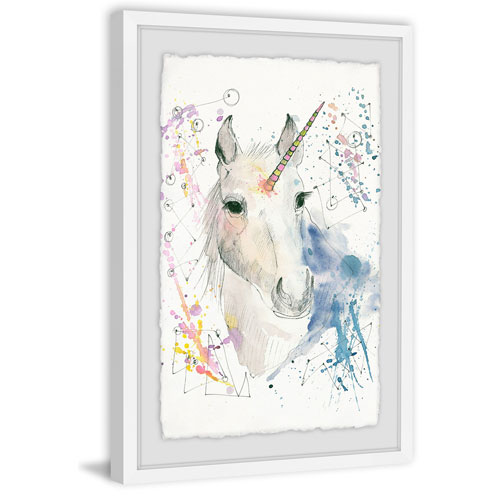 Marmont Hill Fantasy Unicorn 24 x 16 In. Framed Painting Print