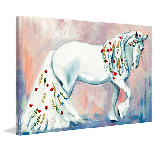 Marmont Hill Unicorn Style 20 x 30 In. Painting Print on Wrapped Canvas