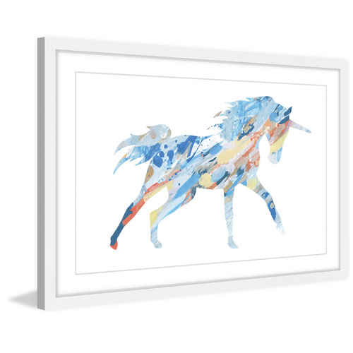 Marmont Hill Painted Unicorn 20 x 30 In. Framed Painting Print
