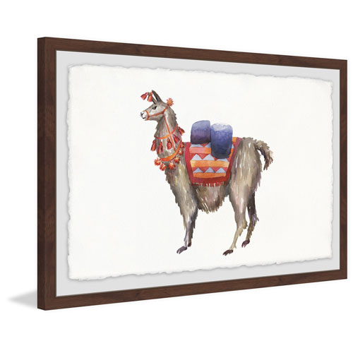 Marmont Hill Pack Llama 12 x 18 In. Framed Painting Print