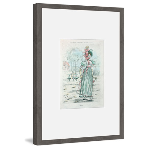 Victorian Blue 36 x 24 In. Framed Painting Print