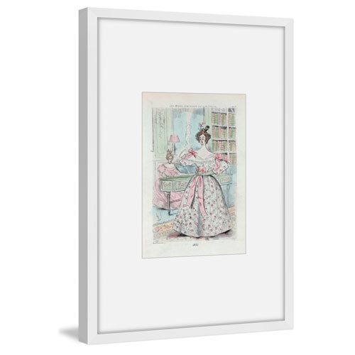 Marmont Hill Dressed for Tea 60 x 40 In. Framed Painting Print