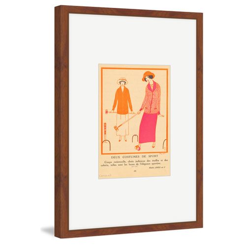Marmont Hill Deux Costumes De Sport 24 x 16 In. Framed Painting Print