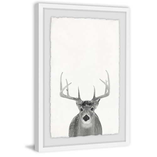 Marmont Hill Grey Deer 45 x 30 In. Framed Painting Print