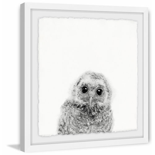 Marmont Hill Those Big Eyes 24 x 24 In. Framed Painting Print
